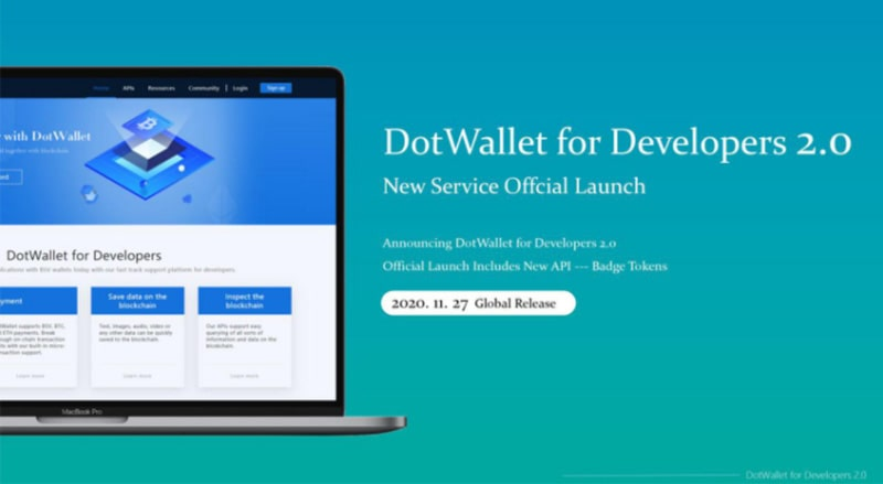 DotWallet for Developers 2.0 Official Launch Includes New API
