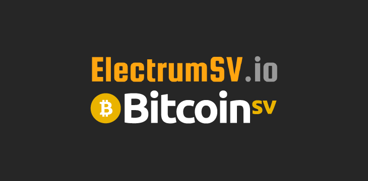 ElectrumSV Wallet Released for Bitcoin SV (BSV), the
