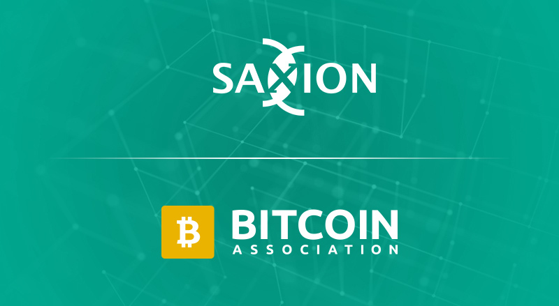 Saxion and Bitcoin Association logos