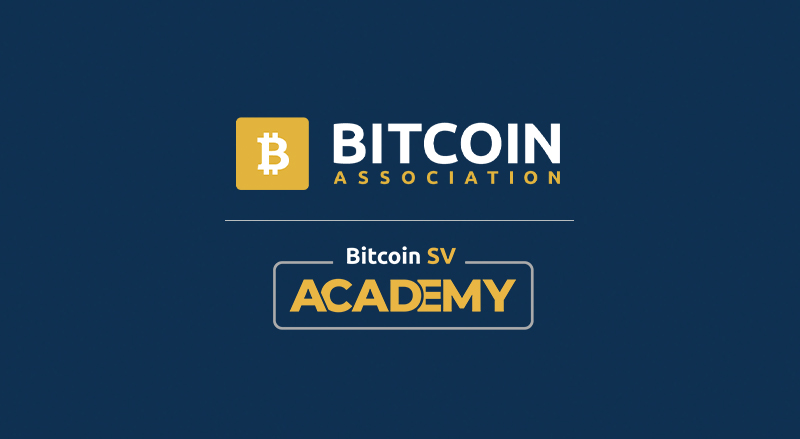 Bitcoin Association and Bitcoin SV Academy Logos